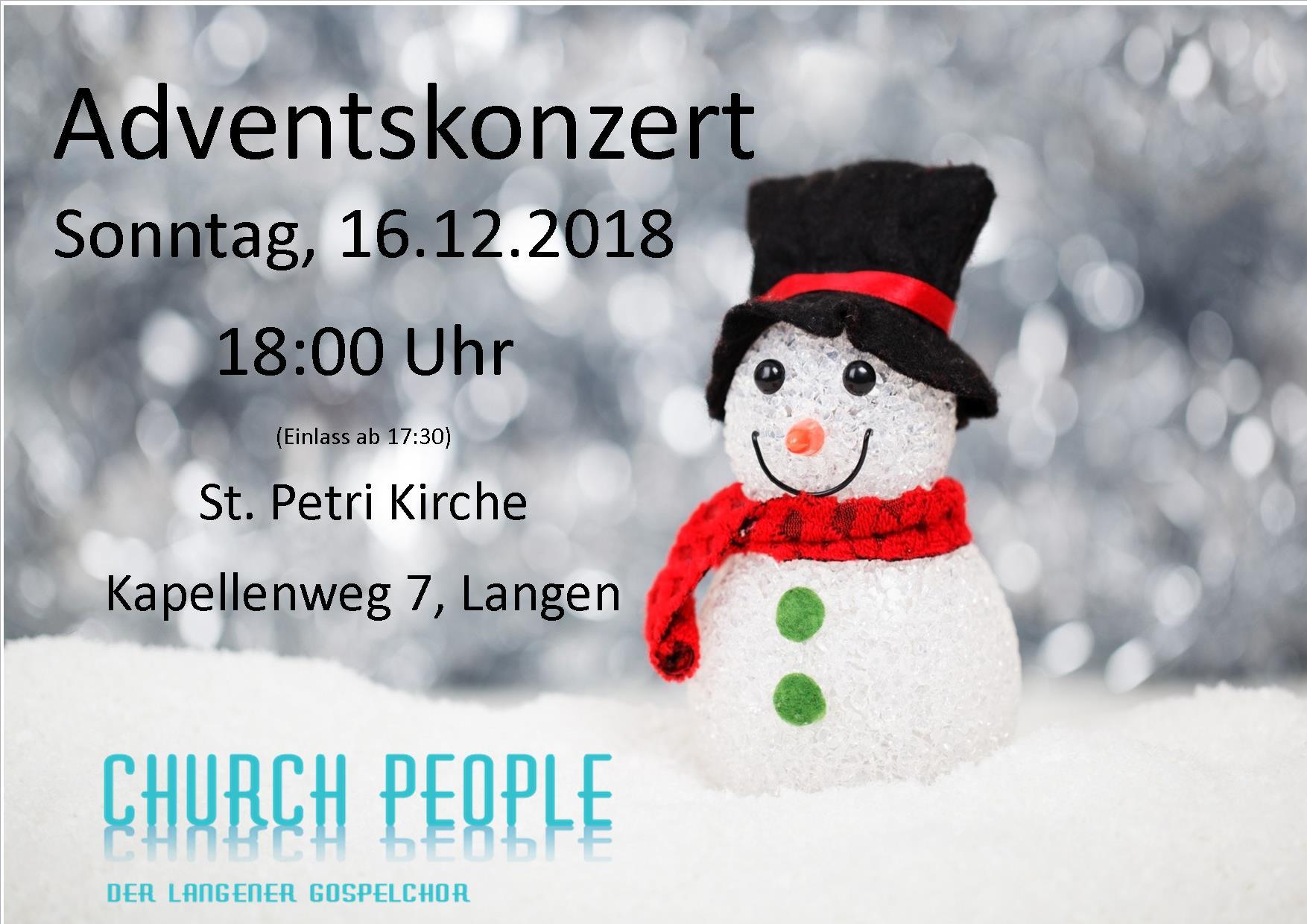 Weihnachtskonzert in Langen 18. Dezember 2018 18:00 Uhr